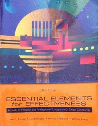 9780536202017: Essential Elements for Effectiveness