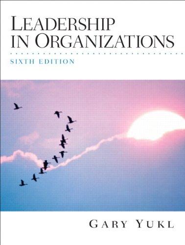 9780536202703: Leadership in Organizations