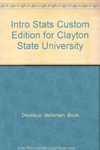 Intro Stats Custom Edition for Clayton State: Velleman Deveaux