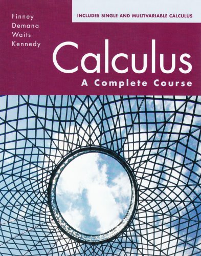 Calculus: A Complete Course: HALL, PRENTICE