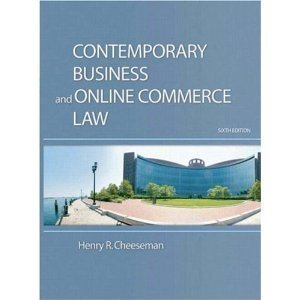 9780536236487: Contemporary Business and Online Commerce Law, 6th Edition