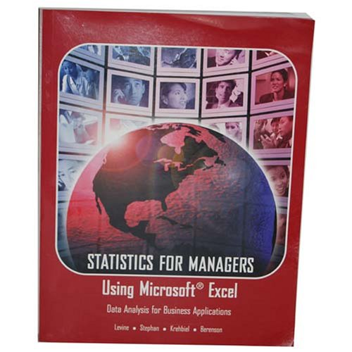 9780536237255: Statistics for Managers Using Microsoft Excel (Data Analysis for Business Applications)