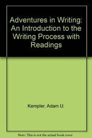 9780536253880: Adventures in Writing: An Introduction to the Writing Process with Readings
