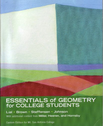 9780536258908: Essentials of Geometry for College Students (Custom Edition for Mt. San Antonio College)