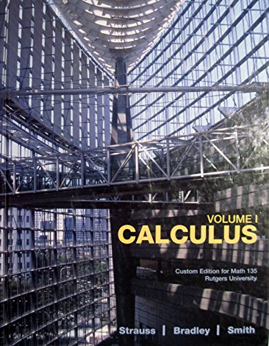 9780536260710: CALCULUS,VOL.1 >CUSTOM<