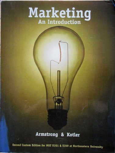 9780536270276: Marketing - An Introduction (Custom for Northeastern University)