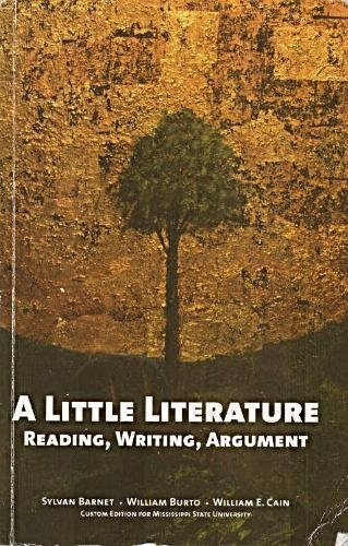 9780536270528: A Little Literature: Reading, Writing, Argument (Custom Edition for Mississippi University)