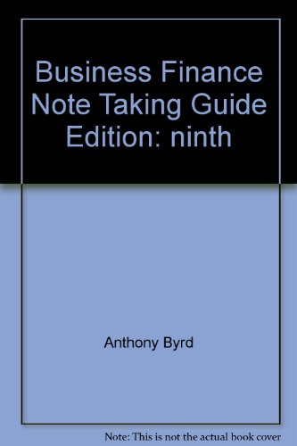 9780536271341: Business Finance Note Taking Guide (Ninth Edition)