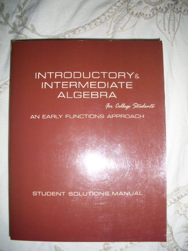 9780536274328: Introductory & Intermediate Algebra for College Students