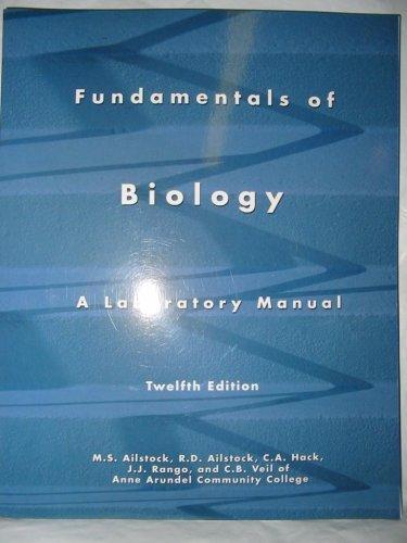 9780536276285: Fundamentals of Biology a Laboratory Manual