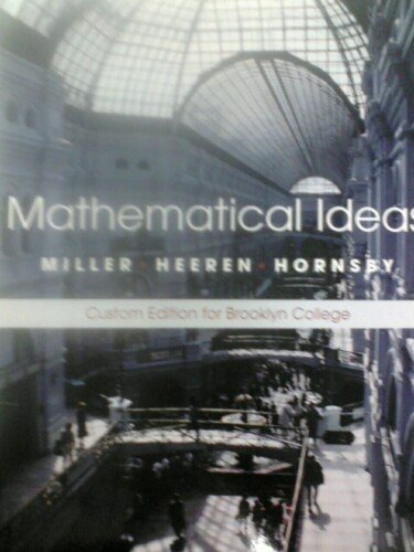 9780536291714: Mathematical Ideas (Custom 4-Color Edition for Brooklyn College) (10th Edition)