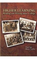 9780536291820: Higher Learning: Reading and Writing About College
