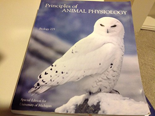 Principles of Animal Physiology (Biology 225 Special