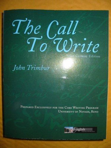 9780536297594: The Call to Write (Brief Custom Edition)