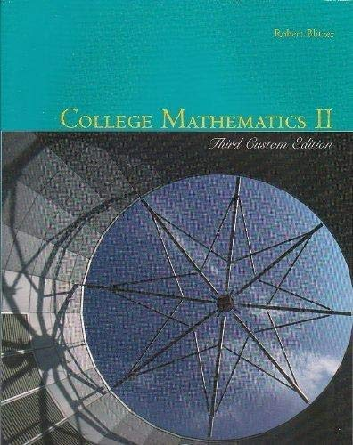 9780536302809: College Mathematics II