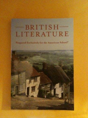 9780536309075: British Literature Prepared Exclusively for the American School
