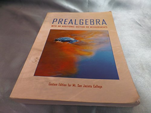 9780536322326: Prealgebra with an Additional Section on Measurments- Custom Edition for Mt. San Jacinto College