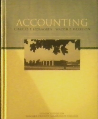 9780536326485: Accounting (Custom Edition for Niagara County Community College)