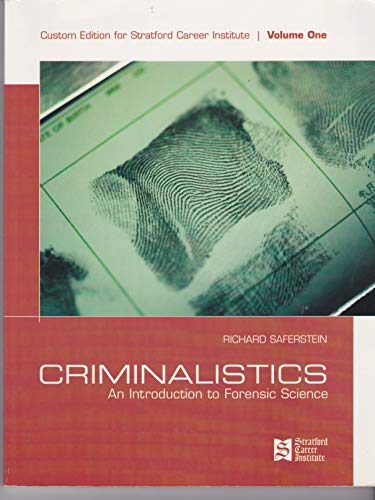 9780536352873: Criminalistics - An Introduction to Forensic Science (Volume 1)
