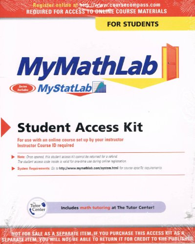 9780536354990: MyMathLab: Student Access Kit