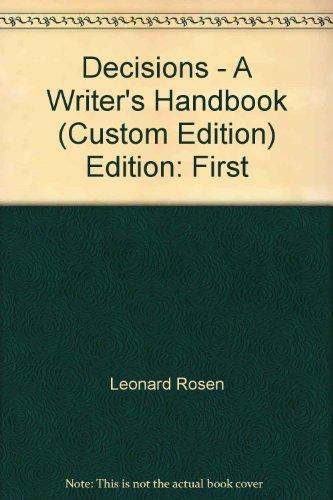 9780536361226: Decisions - A Writer's Handbook