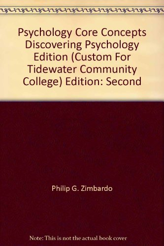 9780536385871: Psychology Core Concepts Discovering Psychology Edition (Second Custom Edition For Tidewater Community College)