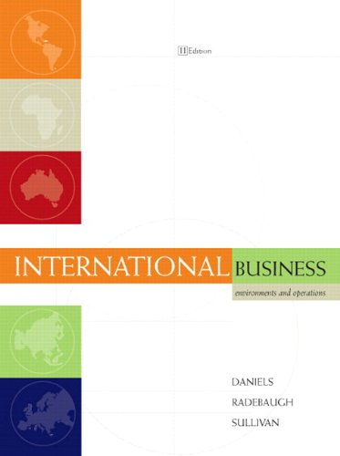 9780536389695: International Business: Environments and Operations