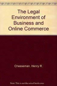 9780536392312: The Legal Environment of Business and Online Commerce