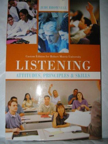 9780536397720: Listening: Attitudes, Principles & Skills (Custom Edition for Robert Morris University)