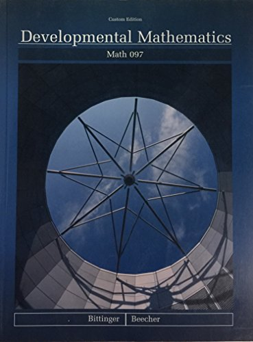 9780536402691: Developmental Mathematics (Math 097, 7th Edition)