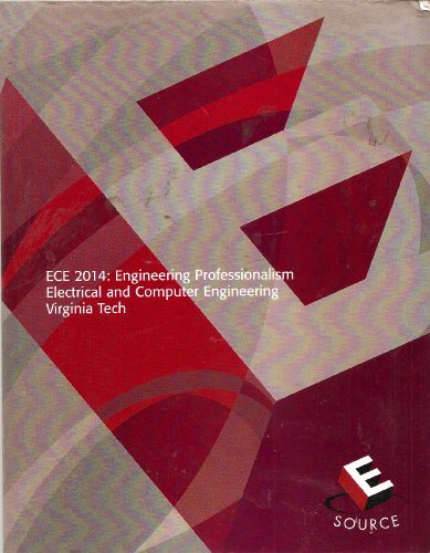 9780536421104: ECE 2014: Engineering Professionalism Electrical and Computer Engineering--Virginia Tech