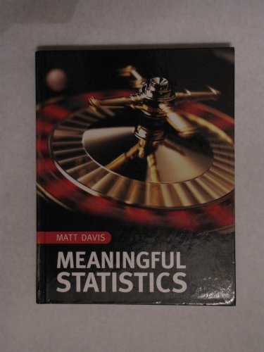 9780536425225: Meaningful Statistics