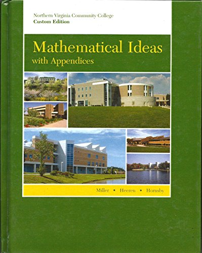 9780536429605: Mathematical Ideas with Appendicies -- Northern Virginia Community College Custom Edition