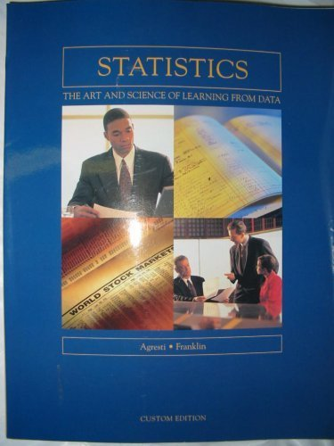 9780536436719: Statistics The Art and Science of Learning From Data (Custom Edition) Edition...