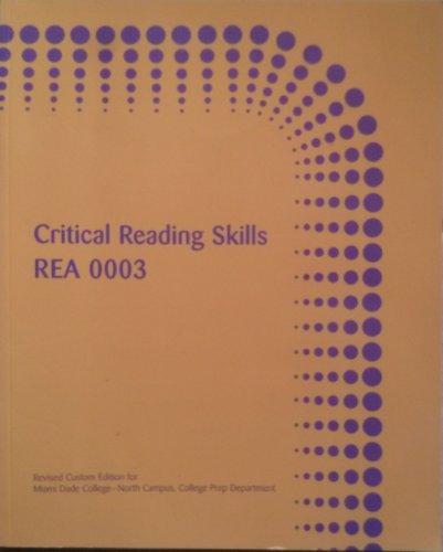 Critical Reading Skills REA 0003: Kathleen T McWhorter
