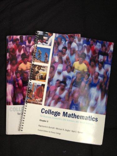 9780536446404: College mathematics for Business, Economics,Life Sciences and Social Sciences (college mathematics)