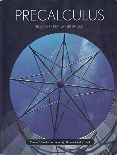 9780536446527: Precalculus - Custom Edition for the University of Massachusetts, Lowell (Taken From the 3rd Edition