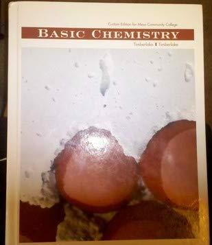 Basic Chemistry : Custom Edition for Mesa: Timberlake, Karen C.;