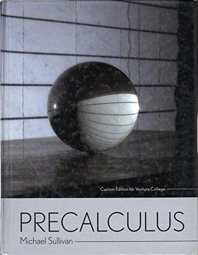 9780536453990: Precalculus - Custom Edition for Ventura College