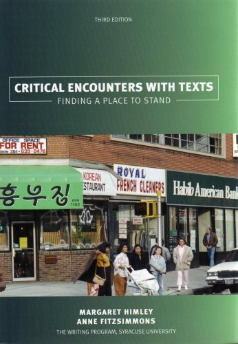 9780536457813: Critical Encounters with Texts: Finding a Place to Stand
