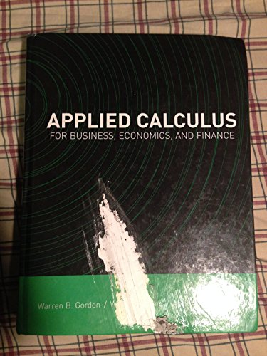 9780536460189: Applied Calculus for Business, Economics and Finance
