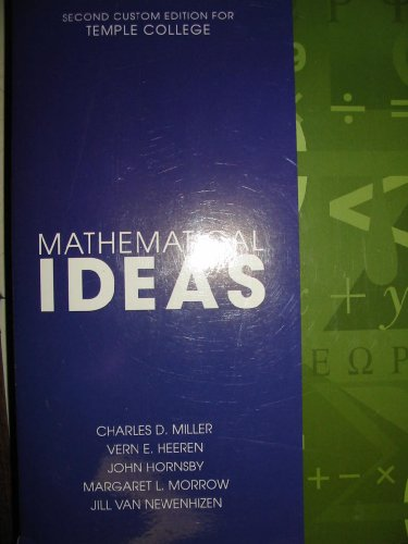 9780536474995: Mathematical Ideas Second Custom Edition for Temple College