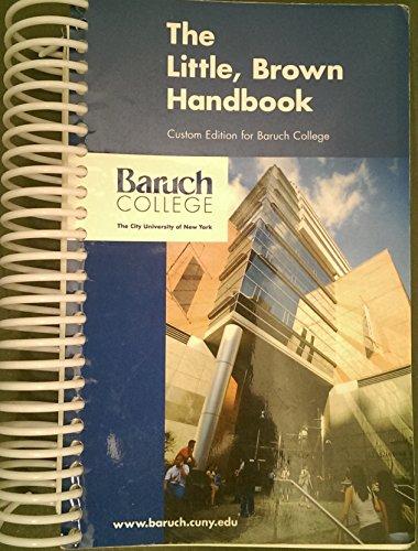 9780536475954: LITTLE BROWN HANDBOOK BARUCH CUSTOM TEXT by FOWLER