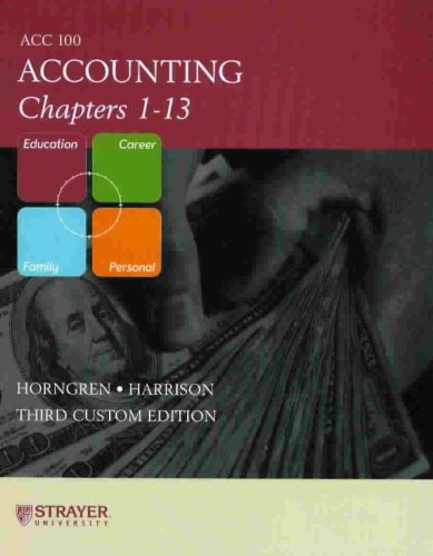 9780536485953: Accounting Chapters 1 - 13 ACC 100 - Strayer University