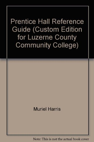9780536497970: Prentice Hall Reference Guide (Custom Edition for Luzerne County Community College)