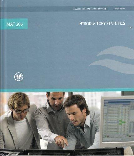 9780536507990: Introductory Statistics (A Custom Edition for Rio Salado College) MAT 206