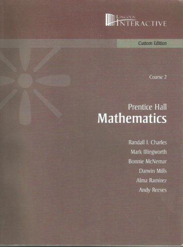 9780536508164: Prentice Hall Mathematics Course 2 Custom Edition (Prentice Hall Mathematics Course 2 Custom Edition)