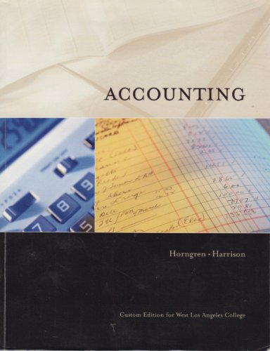 9780536521613: Accounting (Custom Edition for West Los Angeles College)