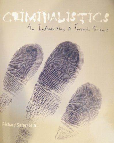 9780536522825: Criminalistics; an Introduction to Forensic Science; with Cd