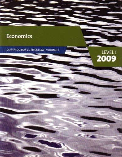 9780536537041: Economics Level 1 2009 (CFA Programa Curriculum Vol. 2, Volume 2 - Economics)